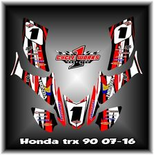 HONDA TRX90 TRX 90 ATV QUAD 07- UP SEMI CUSTOM GRAPHICS KIT