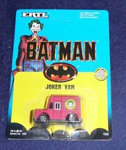 BATMAN - Joker Van Vintage Die Cast Metal Retro Collectible Toy Sealed ERTL 1989