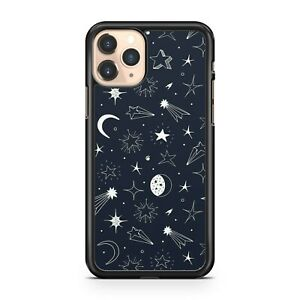 Crescent Moons Luscious Stars Pattern Milky Way Galaxy Space Phone Case Cover