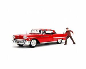 Cadillac Series 62 (1958) Diecast Model Car with Freddy Krueger Figure from Nigh