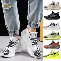 Mens Luminous Athletic Running Shoes Breathable Casual Fashion Sneakers Trainers