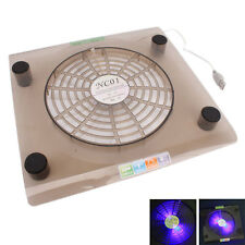 "10 PCS USB Cooling 1 Fan LED Cooler Pad Laptop 14.1""-15.4"" Translucent Tawny"
