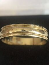 14 Kt. Yellow and White Gold Men's Wedding Band 4.6 Grams