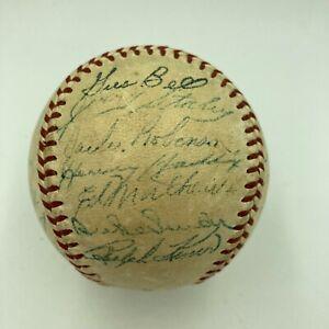 Jackie Robinson Roy Campanella 1953 All Star Game Team Signed Baseball JSA COA