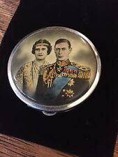 Antique Powder Compact Queen Elizabeth 1 King George 1930's Stratnoid Beautiful