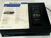 Quasar Omnivision VH5490 VCR Video Cassette Recorder VHS Tape Player 4 Head 1988