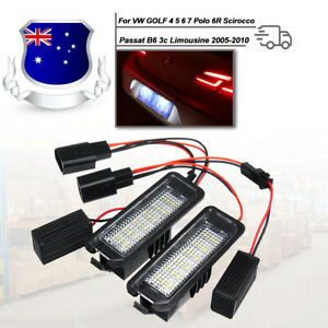 2X LED Licence Number Plate Lights Canbus VW Passat CC Polo GTI Golf MK6 MK5 MK4