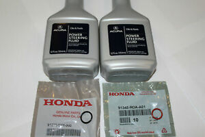 NEW GENUINE ACURA POWER STEERING FLUID PUMP LINE O RING GASKET SEALS SET 4PC KIT