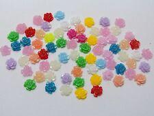 500 Mixed Color Flatback Resin Floral Mini Flower Cabochons 5mm Embellishments