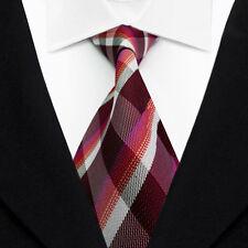 Striped Men's Ties Classic Jacquard Woven Silk Tie Suits Necktie Burgundy L067