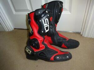 SIDI  Vertebra motorcycle boots , size 9.5 UK , 44 EUR .