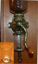 Coffee Catch Cup Glass Jar  fits Antique Arcade / Golden Rule Grinder Squares