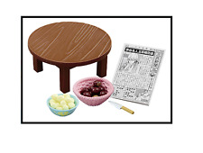 R007 Family Living Room Wooden Table chestnut newspaper Miniature Rement #1 2016