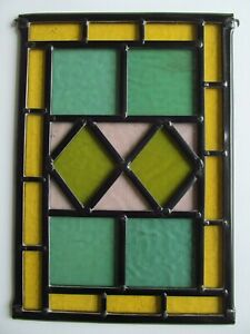 Newly crafted STAINED GLASS WINDOW Panel VICTORIAN Glass (cc 1862) 230 by 330mm