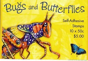 2003 AUSTRALIAN STAMP BOOKLET BUGS AND BUTTERFLIES 10 x 50c STAMPS MUH