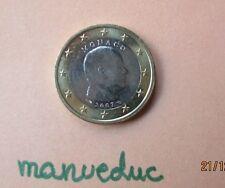 manueduc  MONACO 1 EURO 2007 P. ALBERTO II SÓLO 64.286 NUEVA