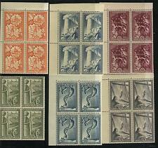 Greece Scott # 539-44 Block of 4 Mnh Value $ 909.00 Us $