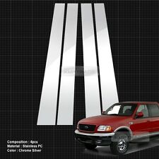 Chrome Pillar Post Flexible Stainless PC Molding 4P For FORD 1997-2003 F150 Crew