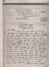 GB WW2 1943 BRITISH FORCES INDIA RAOC REINFORCEMENT CAMP AIRGRAPH TO UK 72*