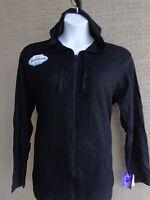Just My Size 4X Light Weight Slub Cotton Zip Up Hoodie Jacket  Black