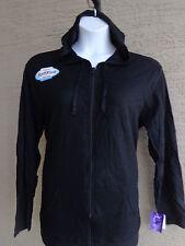 Just My Size Light Weight Slub Clotton Zip Up Hoddie Jacket 1X Black