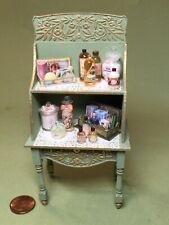 Beautiful laser cut Shelf with Perfumes & Bath items - 1/12 scale