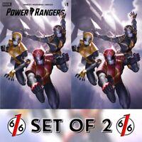 🚨💥 POWER RANGERS #1 JUNGGEUN YOON Exclusive Variant SET OF 2 Ltd 500 NM