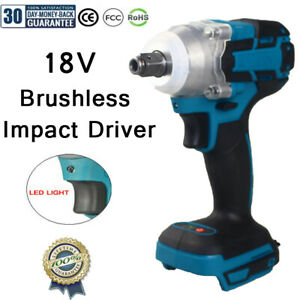 520NM Cordless Brushless Impact 1.2 inch Wrench Driver 18V Makita Battery DTW285