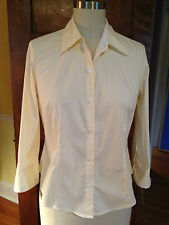 Liz Claiborne 8 NWT Striped Stretch Cotton Blouse