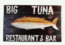 Tiki Bar Schild aus Holz 50cm Restaurant & Bar für Lounge oder Disco Big Tuna