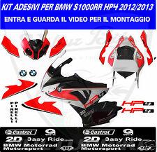 adesivi moto s1000rr hp4 2012 2013  kit completo grafica personalizzata