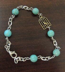 Shahrzad Morghe Amin Iranian Persian Symbol Handmade Turquoise Chain Bracelet