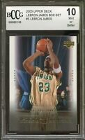 2003 Upper Deck #5 LeBron James Rookie Card BGS BCCG 10 Mint+