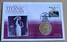 "Titanic Centenary 2012 Cubierta + 2012 Islas Cook 'Molly Brown ""moneda de $1"