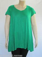 Autograph Ladies Cap Sleeve Swing Top sizes 14 18 Colour Green Emerald