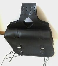 """New genuine black cowhide leather motorcycle saddle bags 15""""x 10""""x 5""""made USA"""