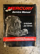 90-877837R01 2002 Fits Mercury Outboard Service Manual 210/240 Jet Drive