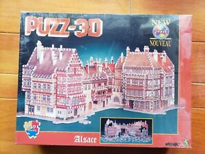 NEW Wrebbit Puzz-3D Puzzle Kit Alsace 959 Piece Jigsaw Puzzle FACTORY SEALED