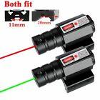 Tactical Red/Green Laser Beam Dot Sight Scope For 11/20mm Rail Pistol Gun Weaver
