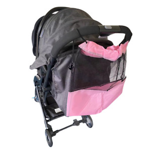 Baby Pram Buggy Organiser Pushchair Stroller Storage Cup Holder Mesh Bag PINK