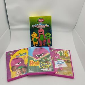 Barney - The Imagination Collection (DVD, 2007, 3-Disc Set) USED