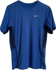 Mens Nike Athletic Shirt Dri Fit L Blue With Black