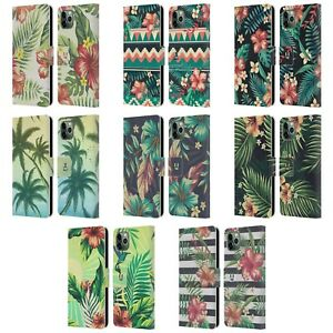 HEAD CASE TROPICAL PRINTS LEATHER BOOK CASE & WALLPAPER FOR APPLE iPHONE PHONES