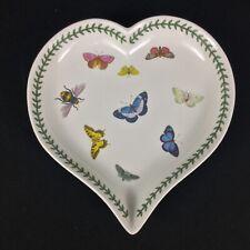 Portmeirion Botanic Garden Large Heart Shaped Dish with Butterflies #B