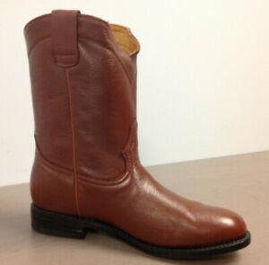 Los Altos Men's Honey Deer Roper Leather w/ Rubber Work Boots 538351 Size 9.5 EE