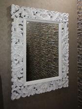 Weiss-Gold Spiegel Barock Wandspiegel 131x102 cm Flurspiegel  Vintage Rokoko
