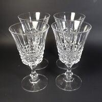 Cristal D'Arques TUILLERIES VILLANDRY Wine Glasses Set of 4 Clear Glass