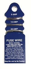Fuse Wire Cards - 5-15-30 Amp Rewireable Fuses Fuse Boxes Replacement Blown Fuse