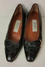 Vintage Italian Bally black leather pumps 6 n