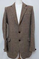 Dunn & Co Men's Harris Tweed Blazer Jacket Chest 44 in. Brown Mix